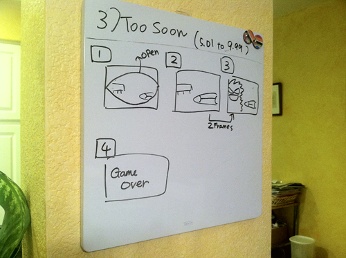 Storyboard sketch for one of our game's endings... Hopefully we have the time to actually get these in.
